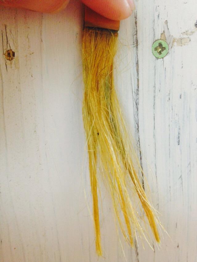 インディゴ染め毛束