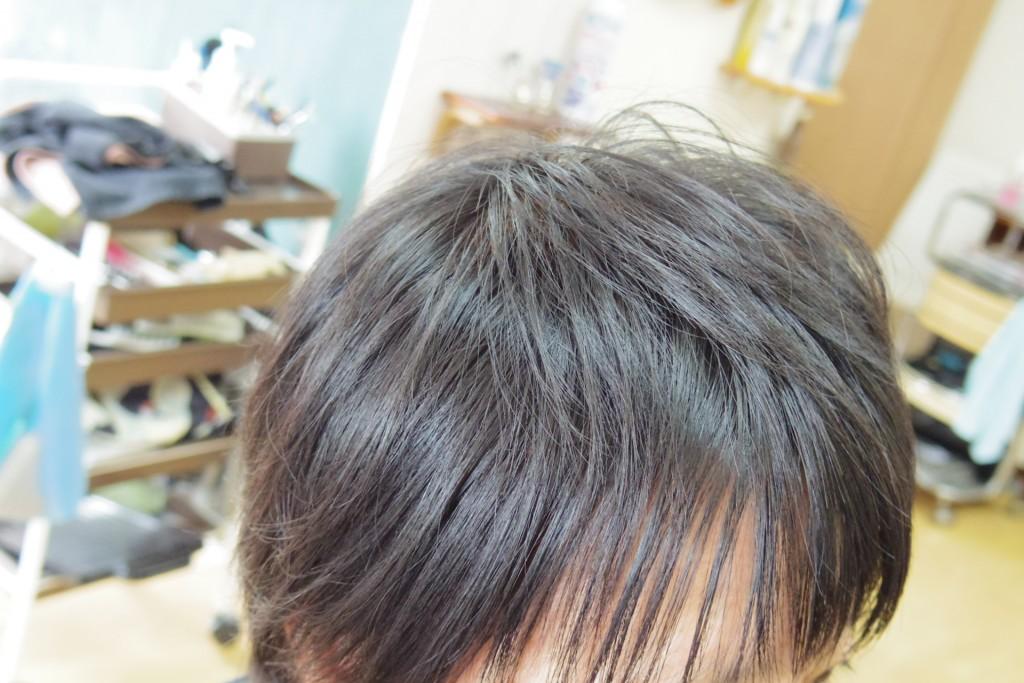 黒髪にヘナトップ