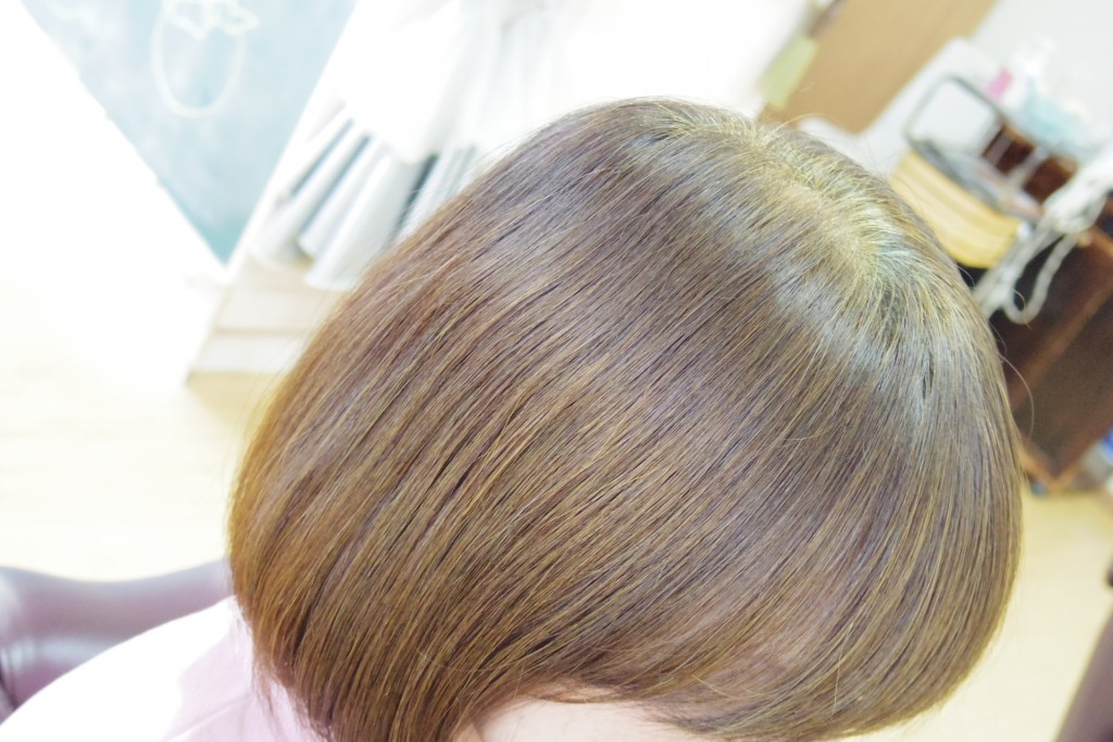 明るい白髪そめにハーバルブラウン