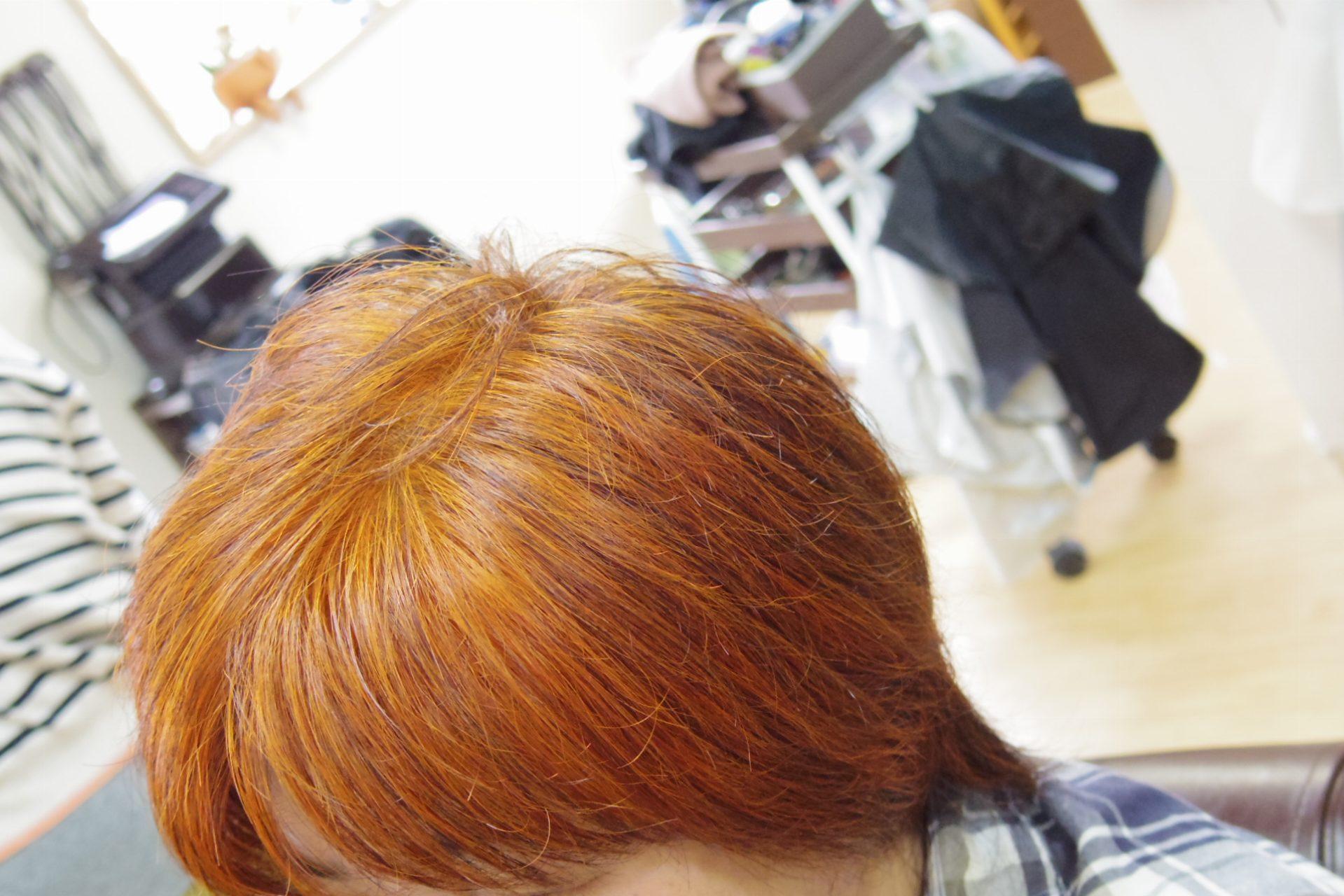 白髪率ほぼ100%でヘナナチュラルで染めた髪色